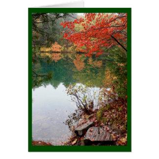 Cartão Um lago é o olho da terra