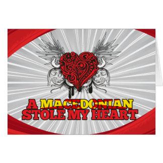 Cartão Um macedónio roubou meu coração
