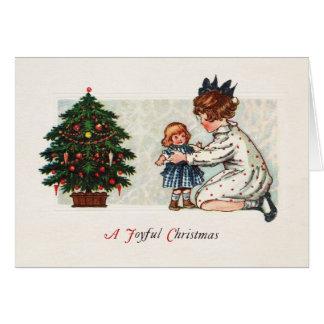 Cartão Um Natal alegre - vintage