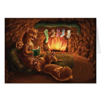 Cartão Um Natal da costa oeste: Martens