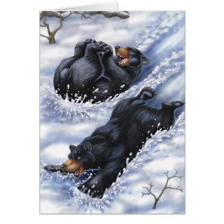 Cartão Um Natal da costa oeste: Ursos