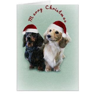 Cartão Um Natal da salsicha