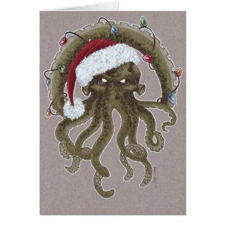 Cartão Um Natal de Cthulhu