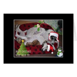 Cartão Um Natal do Lurcher