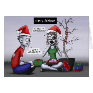 Cartão Um Natal do zombi