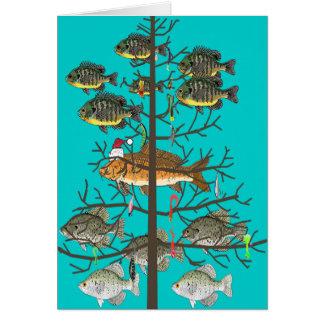 Cartão Um Natal dos peixes