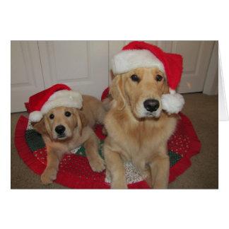Cartão Um Natal dourado