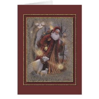 Cartão Um Natal enchido com a mágica