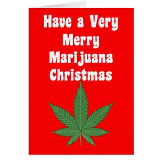 Cartão Um Natal muito alegre de MaryWanna & uma cerveja