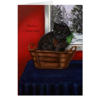 Cartão Um Natal nevado morno