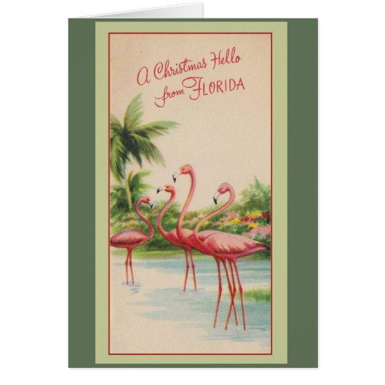 Cartão Um Natal olá! de Florida!