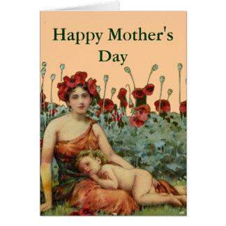 Cartão Um nouveau da arte do dia das mães