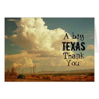 Cartão Um obrigado grande de Texas você