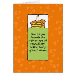 Cartão Um outro ano de responsabilidade