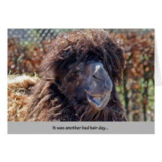 Cartão Um outro dia mau do cabelo