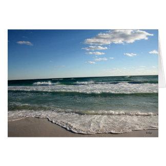 Cartão Um outro dia na praia