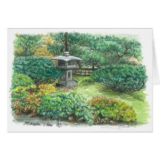 Cartão Um pagode em um jardim asiático