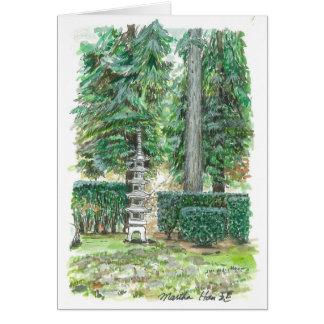 Cartão Um pagode no jardim japonês