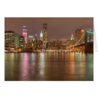 Cartão Um panorama da skyline da Nova Iorque