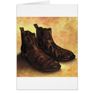 Cartão Um par de botas de Chelsea