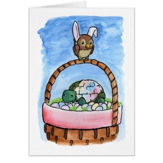 Cartão Um par de caixa de cesta