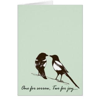 Cartão Um para a amargura, dois para a alegria - Magpies