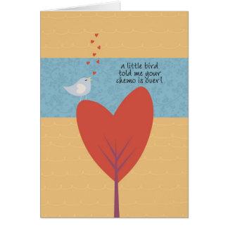 Cartão Um pássaro pequeno disse-me que seu Chemo se