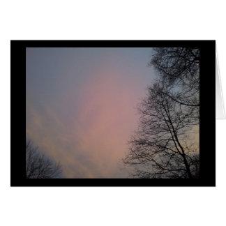 Cartão Um por do sol do inverno