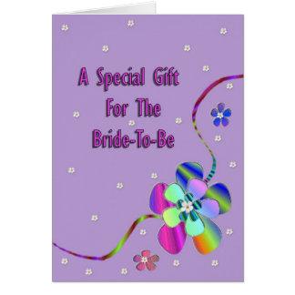 Cartão Um presente especial Fpr Noiva-À-Estar