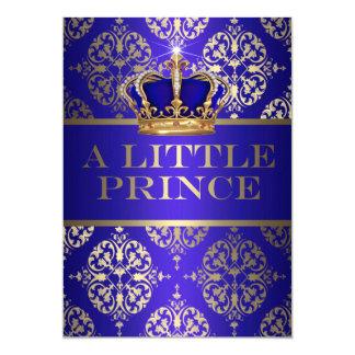 Cartão Um príncipe pequeno chá de fraldas