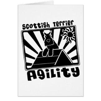 Cartão Um-Quadro da agilidade de Terrier do Scottish