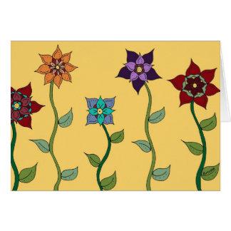 Cartão Um remendo pequeno de irrisório no primavera