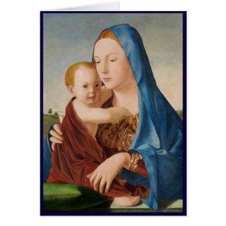 Cartão Um retrato de Mary e de bebê Jesus