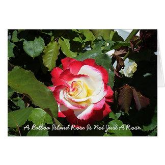 Cartão Um rosa da ilha do balboa é tão original quanto