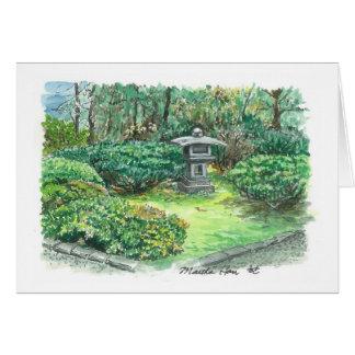 Cartão Um sabor de um jardim asiático