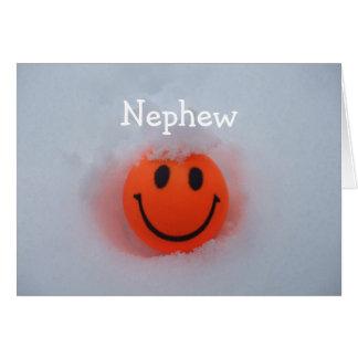 Cartão Um smiley face - dia dos namorados dos sobrinho
