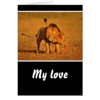 Cartão um snuggle loving