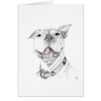 Cartão Um sorriso do pitbull