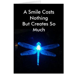 Cartão Um sorriso não custa nada