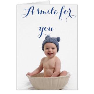 Cartão Um sorriso para você…
