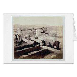 Cartão Um templo escavado no pé da esfinge, 4o
