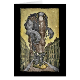 Cartão Um troll na cidade