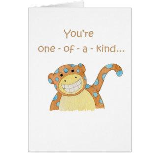 cartão Um--um-amável