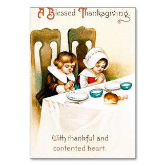 Cartão Um vintage abençoado da acção de graças
