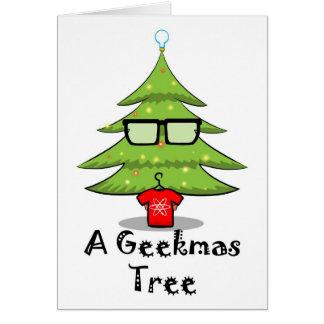 Cartão Uma árvore de Geekmas