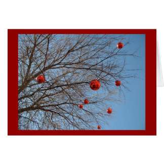 Cartão Uma árvore de Natal do Texan