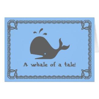 Cartão Uma baleia de um conto!