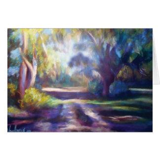 Cartão Uma caminhada nas sombras
