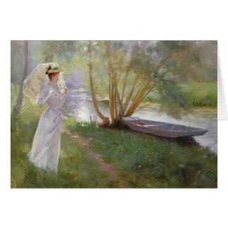 Cartão Uma caminhada pelo rio, 1890