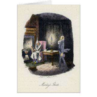 Cartão Uma canção de natal do Natal - o fantasma de
